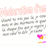 Declaration amour original
