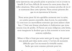 Message de condoléances Archives   Page 23 sur 25   Modèle de lettre