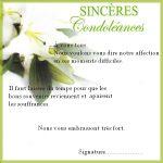 Exemple de sincères condoléances