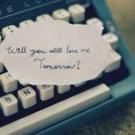 Ecrire un message d amour