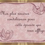 Message pour condoléances