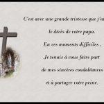 Message pour les condoléances