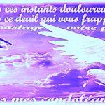 Message d condoléance