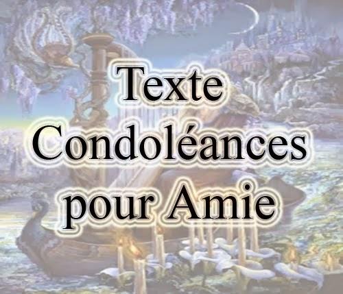 Texte condoléances pour un ami - Modèle de lettre