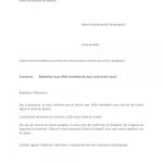 Modele lettre demission remise en main propre