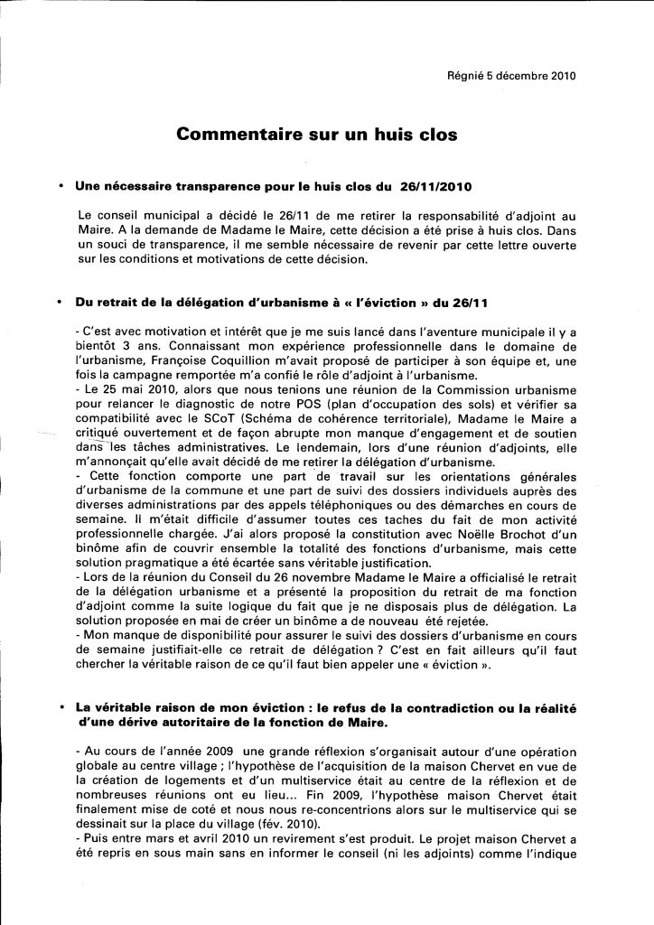 lettre d u00e9mission adjoint au maire