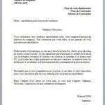 Lettre de recrutement