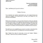 Cv et lettre motivation