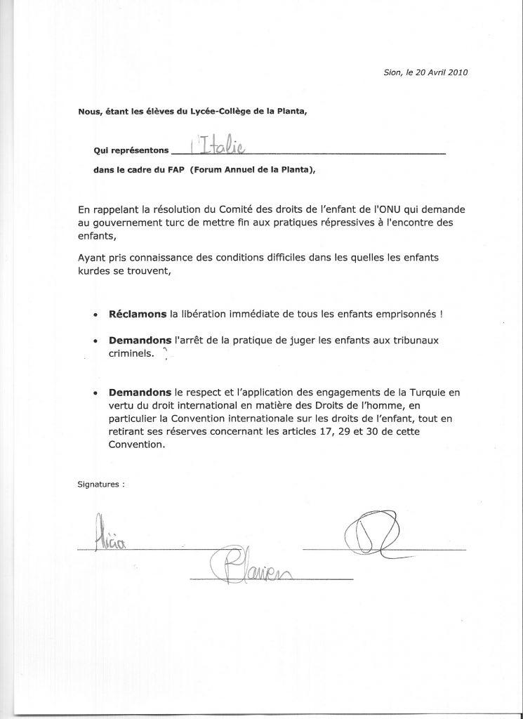 lettre de demission lyc u00e9e