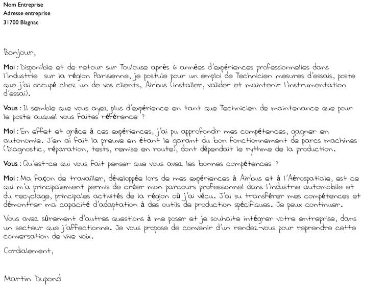 lettre de motivation emploi cdi