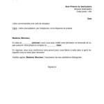 Exemple de lettre de démission sans préavis