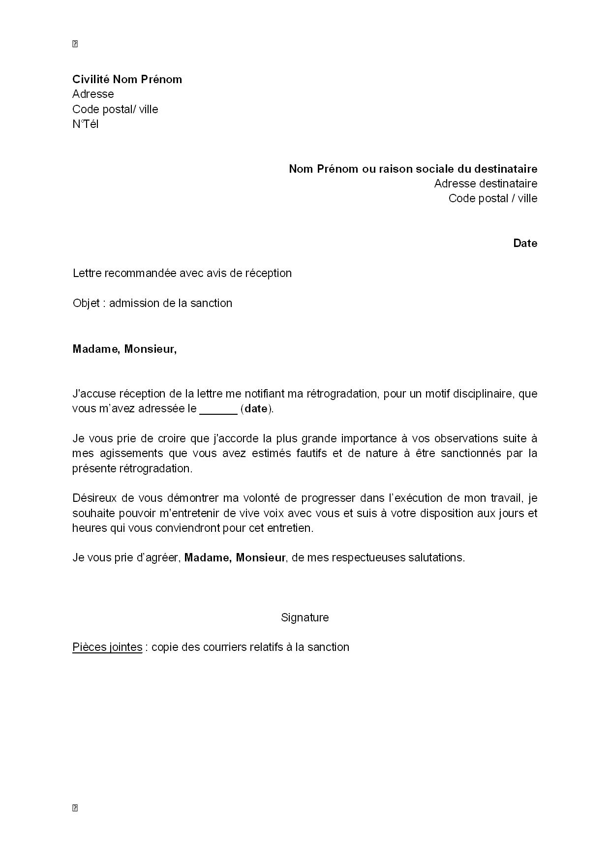 Modèle accusé réception démission   Modèle de lettre