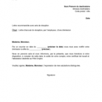 Modèle d une lettre de démission