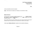 Démission lettre recommandée