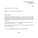 Modele lettre rupture cdd