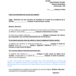 Lettre demission association