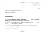 Modèle lettre de démission cdi sans préavis