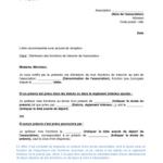 Courrier type démission