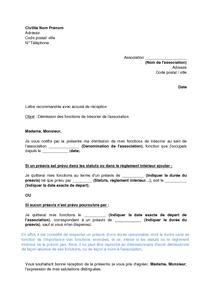 Lettre de démission d une société   Modèle de lettre
