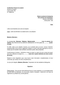 Modele lettre de demission simple gratuite   Modèle de lettre