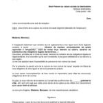 Modèle de lettre de démission remise en main propre