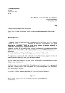 remise du contrat de travail Modèle de lettre de démission remise en main propre   Modèle de lettre remise du contrat de travail