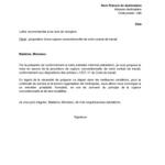Lettre de fin de contrat de travail cdi
