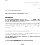 Exemple démission cdd
