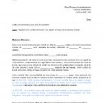 Résiliation contrat de travail exemple lettre