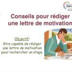 Conseil pour rédiger une lettre de motivation