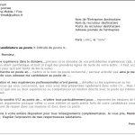 Exemple de lettre de postulation