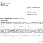 Exemple cv lettre de motivation
