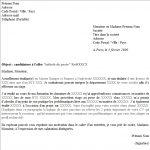 Cv et lettre de motivation exemple