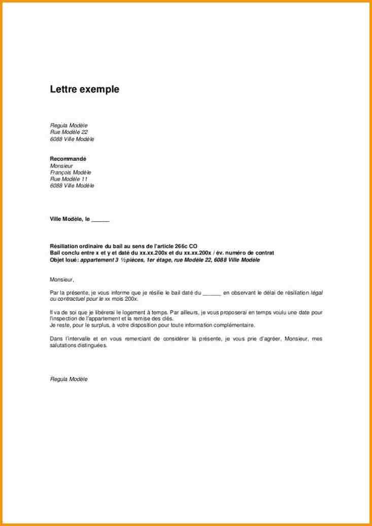 exemple lettre pr u00e9avis de d u00e9part