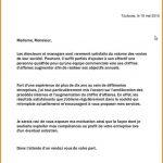 Exemple lettre demande emploi