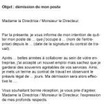Lettre de demission transport routier