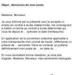 Demission cdd lettre