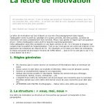 Exemple de bonne lettre de motivation