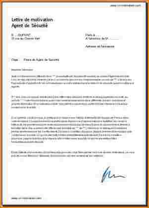 Lettre de demission agent de securite   Modèle de lettre