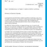 Modele lettre motivation gratuite