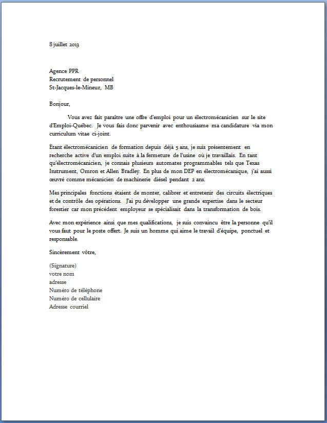 lettre de motivation bp coiffure