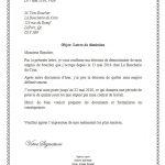 Lettre de démission d un poste de travail