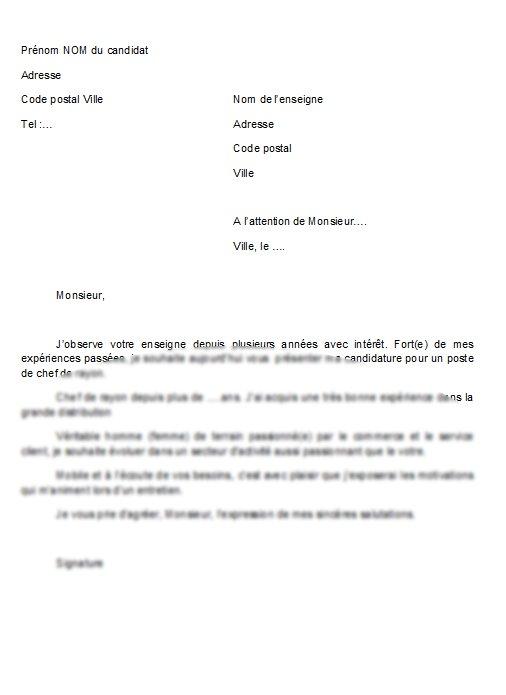 exemple lettre motivation candidature spontan u00e9e