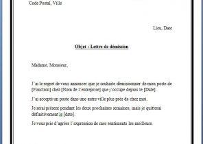 Lettre De Demission Archives Page 3 Sur 15 Modele De Lettre