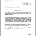 Exemple de lettre de présentation pour emploi