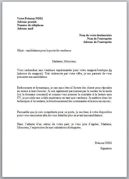exemple de lettre de pr u00e9sentation pour emploi