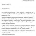Exemple lettre de candidature
