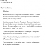 Lettre de motivation pour un job