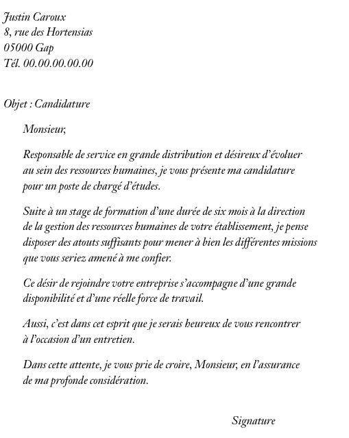 lettre de motivation recherche d emploi