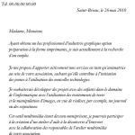 Exemple de lettre présentation